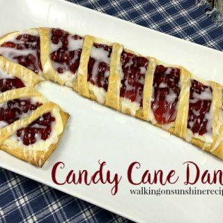 Candy Cane Cream Cheese Danish