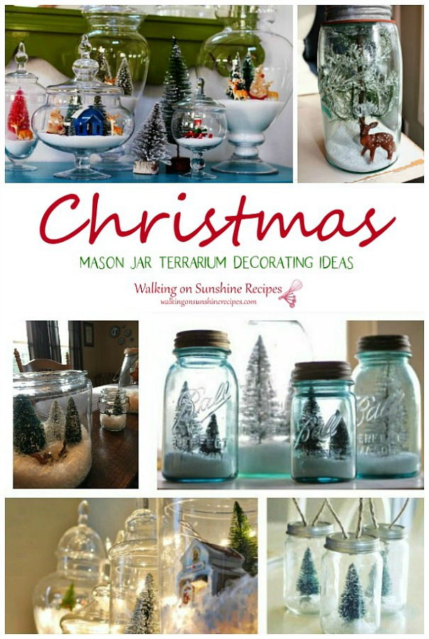 Christmas Mason jar Terrarium Decorating Ideas WOS