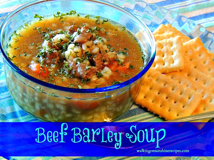 Homemade Beef Barley Soup | Walking on Sunshine Recipes