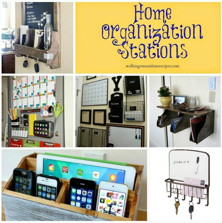 Easy Home Organization Station Ideas