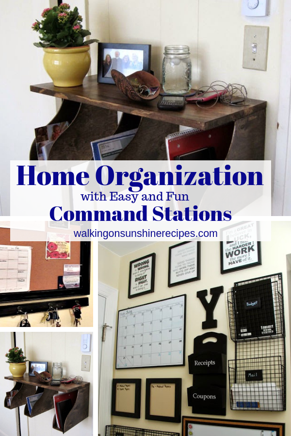 Command Stations and how to create easy home organization to keep your home clutter free.