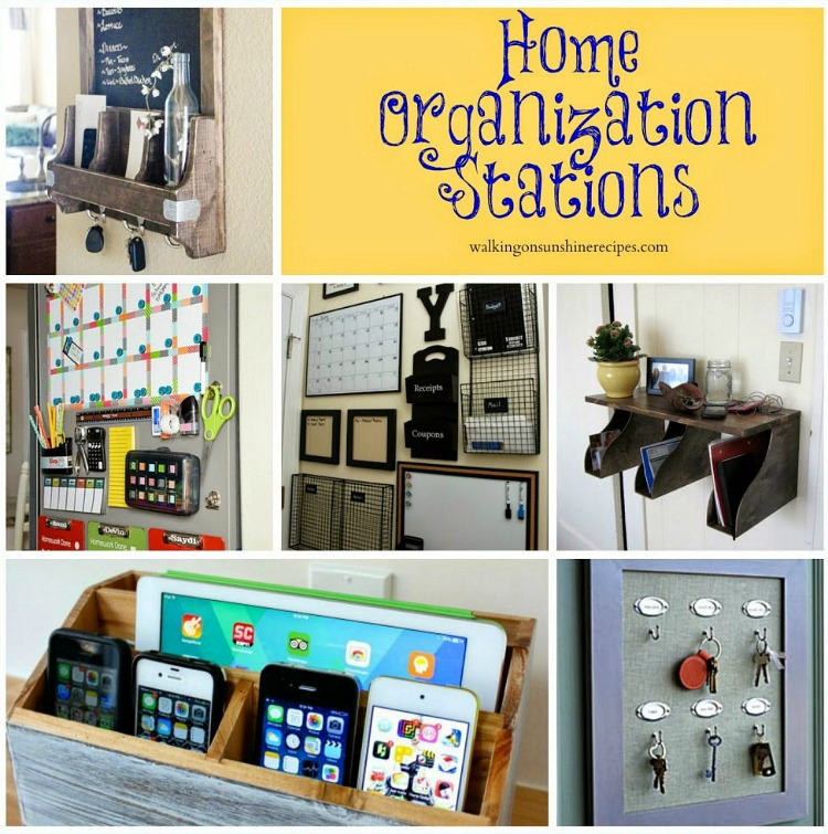 Command Stations and Home Organization with Walking on Sunshine Recipes