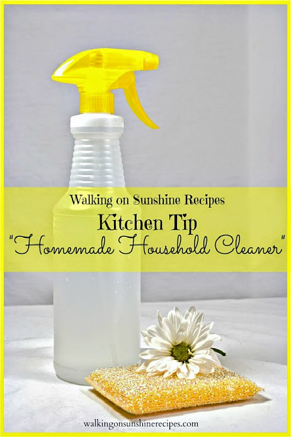 Kitchen Tip Homemade Household Cleaner