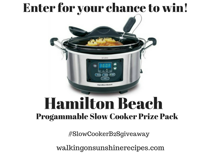 Back to School Giveaway with Hamilton Beach Programmable Slow Cooker