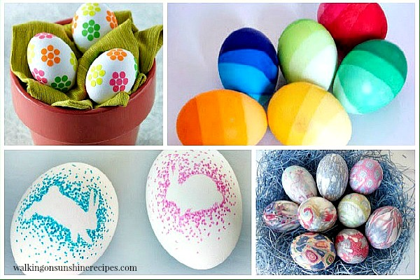 Project: Fun Ways to Decorate Easter Eggs featured on Walking on Sunshine.