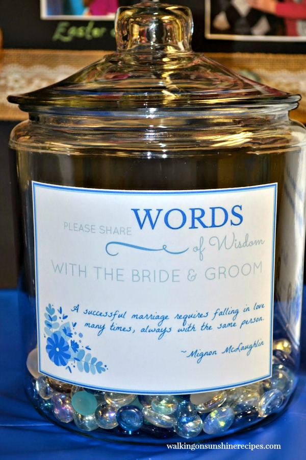 Bridal Shower Memory Jar