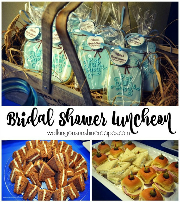 bridal shower luncheon menu