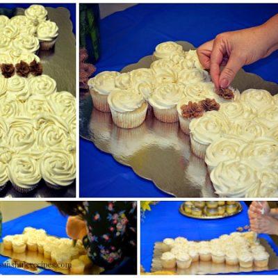 Wedding Dress Bridal Shower Cupcakes