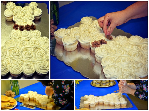 How to make a wedding dress using cupcakes.  Perfect for any bridal shower from Walking on Sunshine Recipes.