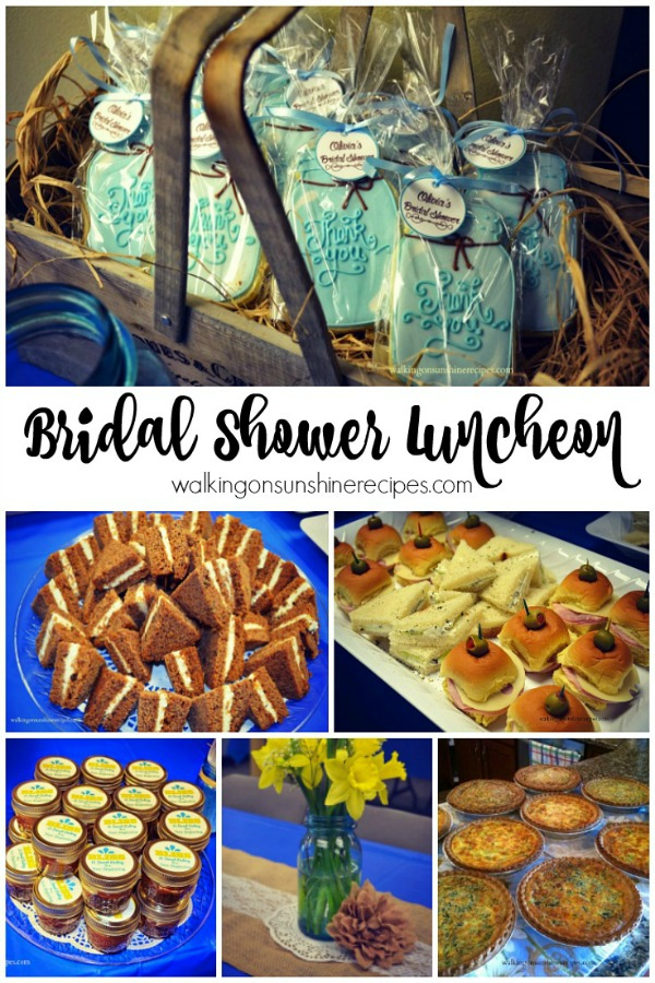 What to serve for a bridal shower luncheon walking on sunshine the perfect bridal shower luncheon menu from walking on sunshine recipes forumfinder Gallery