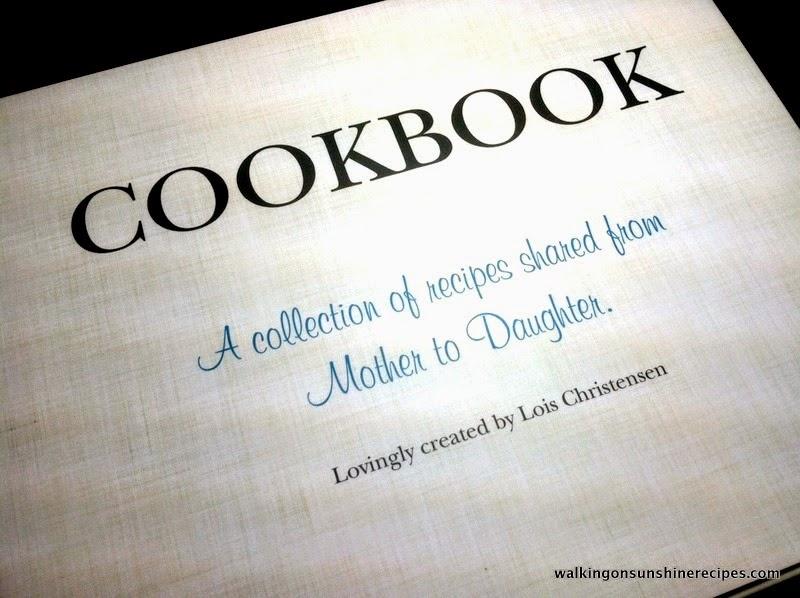 Shutterfly recipe book