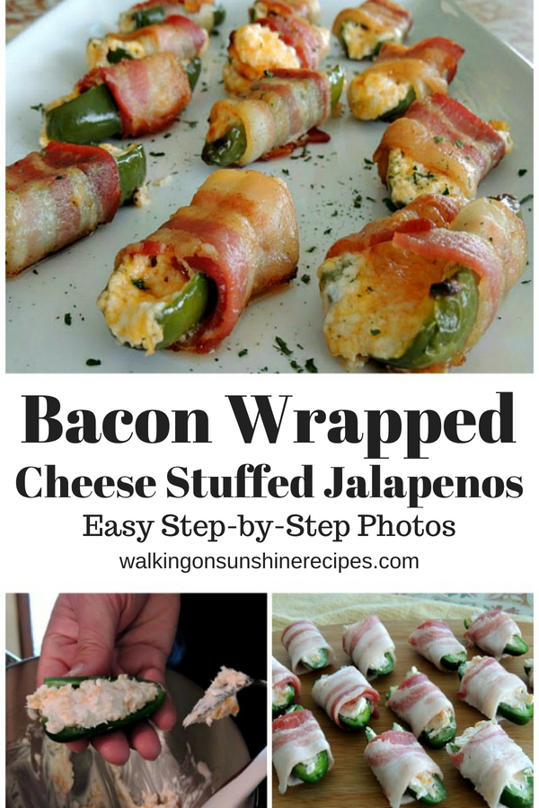 Bacon Wrapped Cheese Jalapenos with step by step photo instructions.