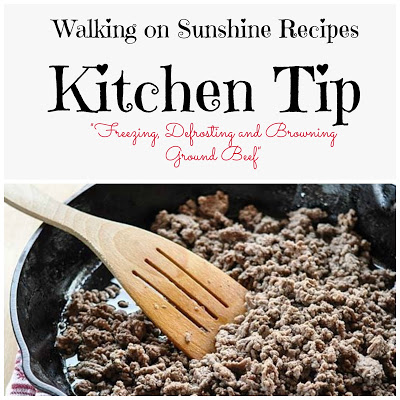 Ground Beef…Kitchen Tip