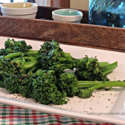 Broccoli and an Easy Recipe