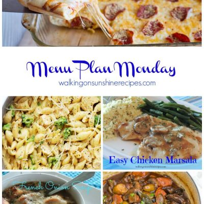 Menu Plan Monday #2