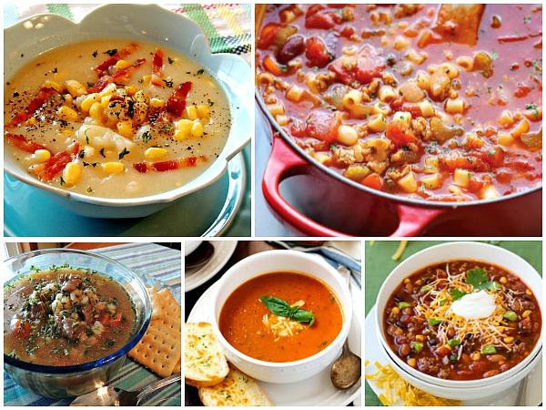 Here's a great collection of delicious soup recipes perfect for the colder temperatures found on Walking on sunshine Recipes.