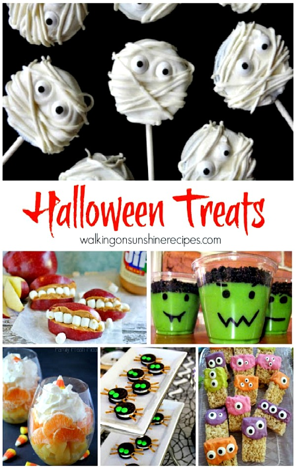 Halloween Food and Treats featured on Walking on Sunshine Recipes