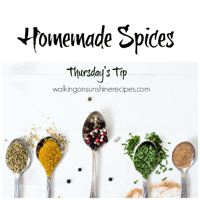 Here are a few homemade spices you're going to want to help with your fall cooking!