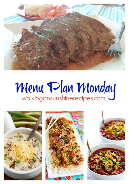 A great list of crock pot recipes to help get your weekly menu planned this week from Walking on Sunshine Recipes.