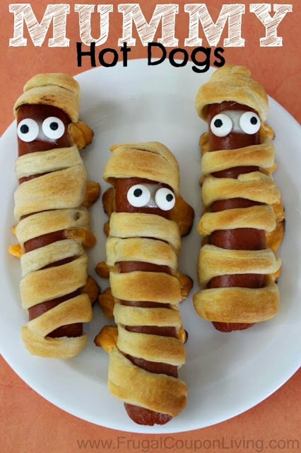 Mummy Hot Dogs from Frugal Coupon Living.