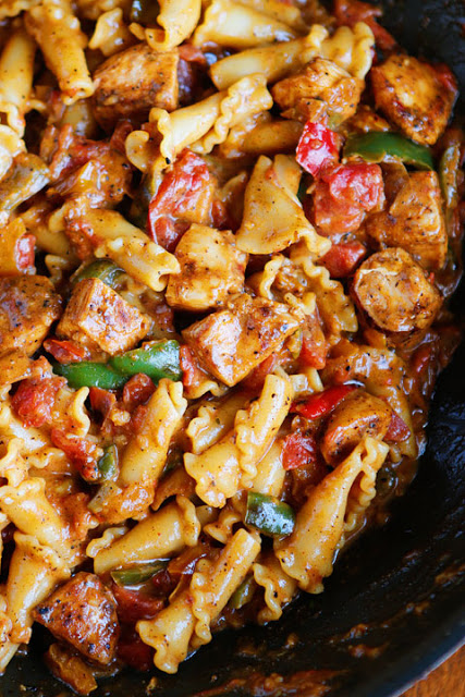 Chicken Fajita Pasta from Kevin and Amanda