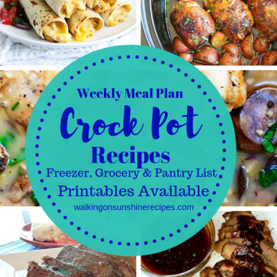 Weekly Meal Plan – Crock Pot Recipes