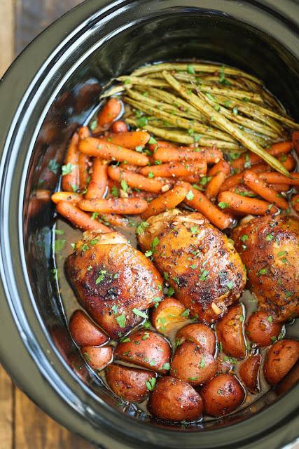 Honey Garlic Chicken in the crock pot