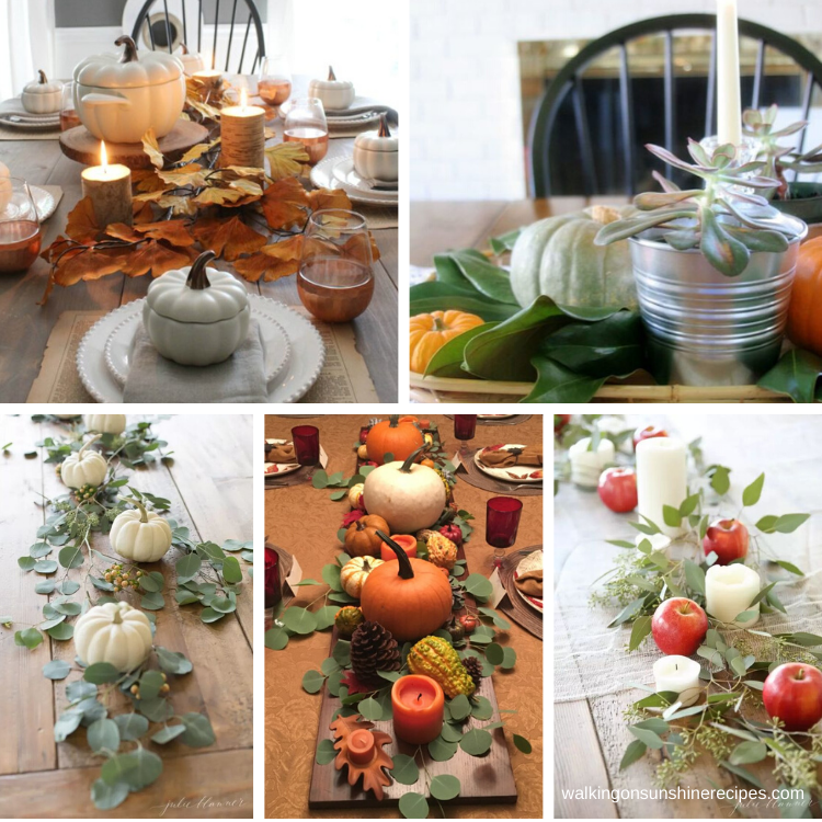 5 different Thanksgiving table Settings to inspire us all.
