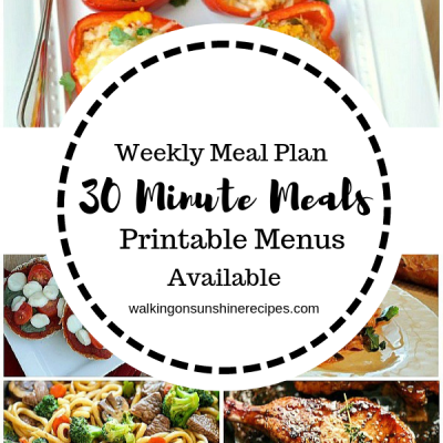 Meal Plan #17: 30 Minute Meals