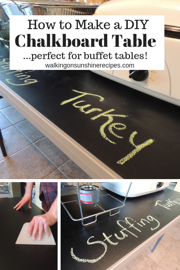 DIY Chalkboard Buffet Table