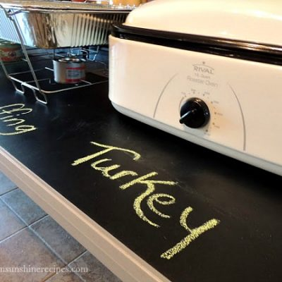 How to make a Chalkboard Buffet Table