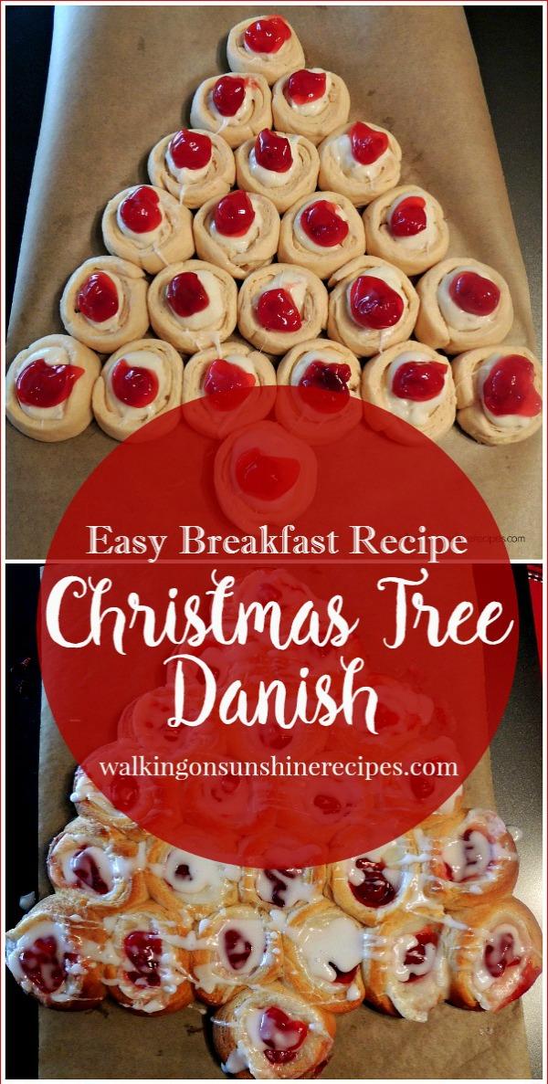 Christmas Tree Danish from Walking on Sunshine Recipes