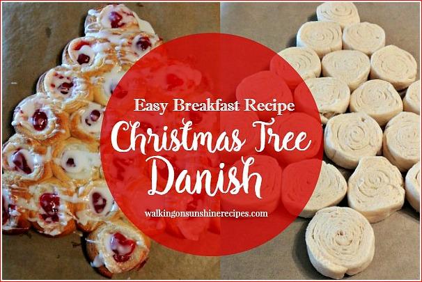 Christmas Tree Cream Cheese Danish - Easy Last Minute Breakfast Recipe from Walking on Sunshine Recipes