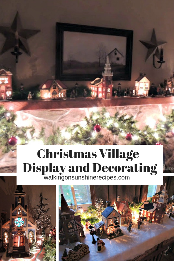 Department 56 Village Display in our home.  Come see how I decorate our home for Christmas with our Department 56 Village Collection.
