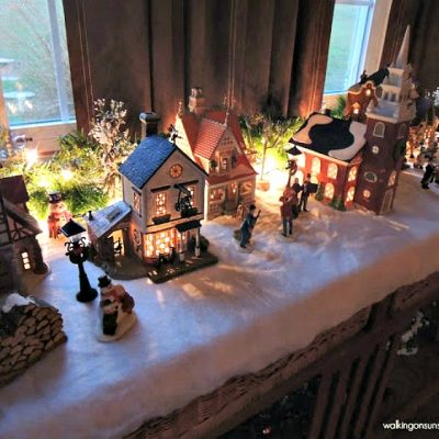 Christmas Eve with My Department 56 Village Display