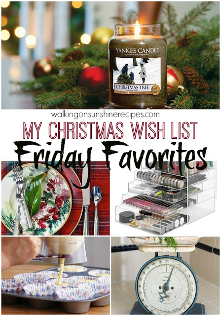 This week's Friday Favorites post is all about my Christmas Wish List.
