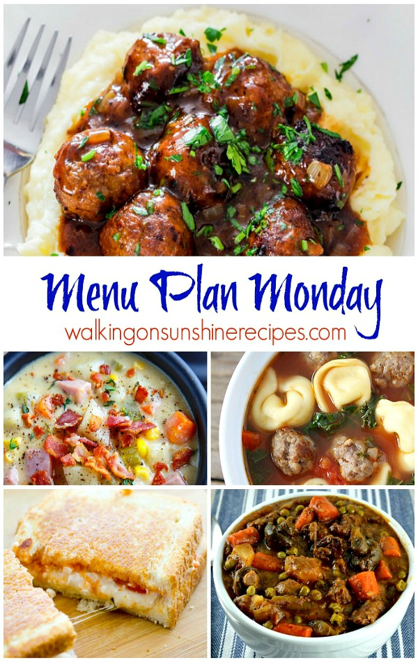 Menu plan the best comfort food for dinner walking on sunshine recipes this weeks menu plan monday is all about comfort food join me as i share forumfinder Image collections