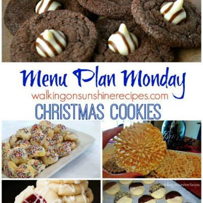 Weekly Meal Plan – Christmas Cookie Recipes