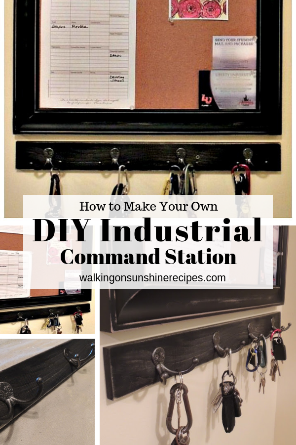 DIY Industrial Message Center for under $50 to help you organize your home!