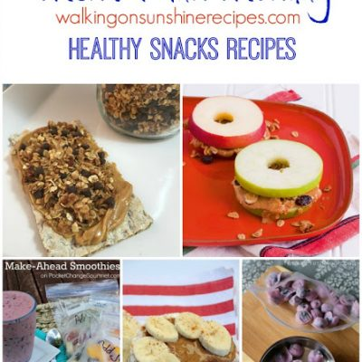 Healthy Snacks Recipes – Menu Plan Monday