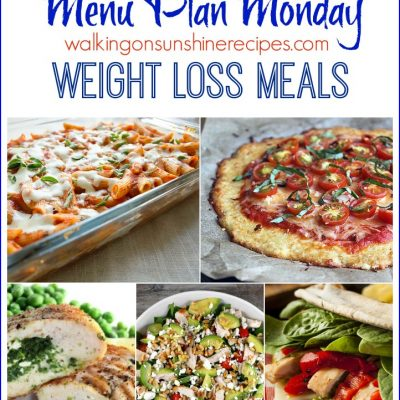 Menu Plan Monday – Weight Loss Meals and Goals 2016
