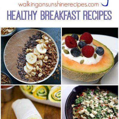 Menu Plan Monday – Healthy Breakfast Recipes