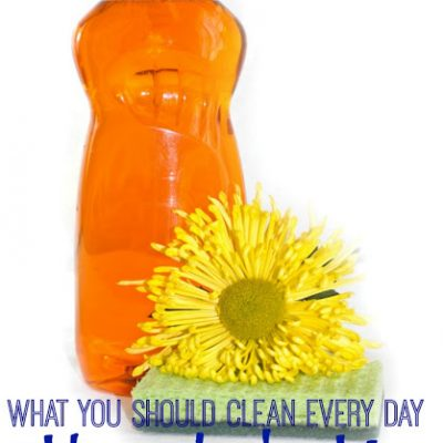 What YOU Should Clean Every Day to Keep Your House Organized