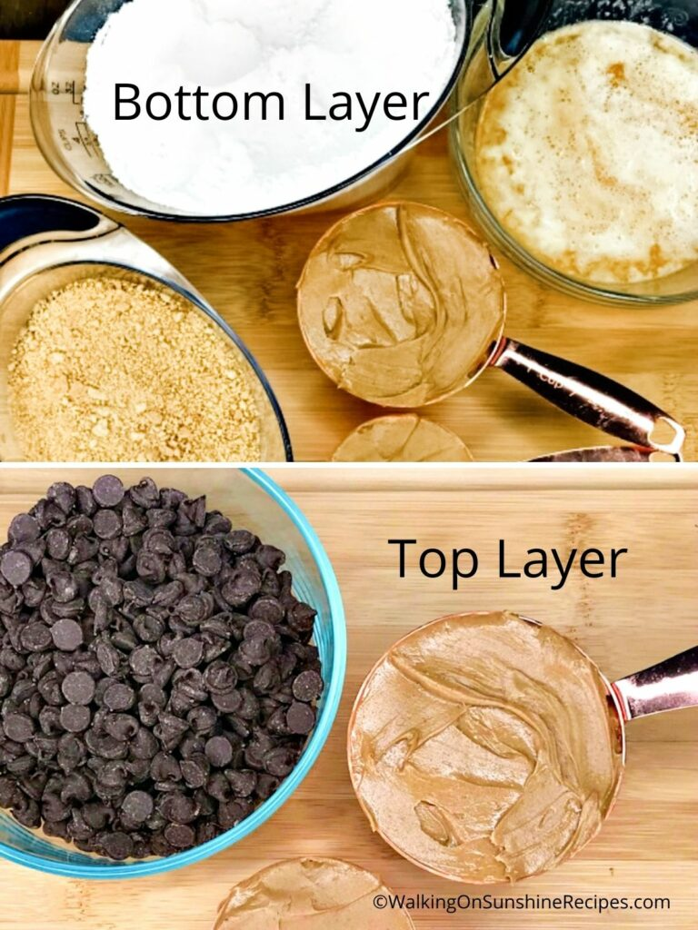 Ingredients for bottom and top layer.