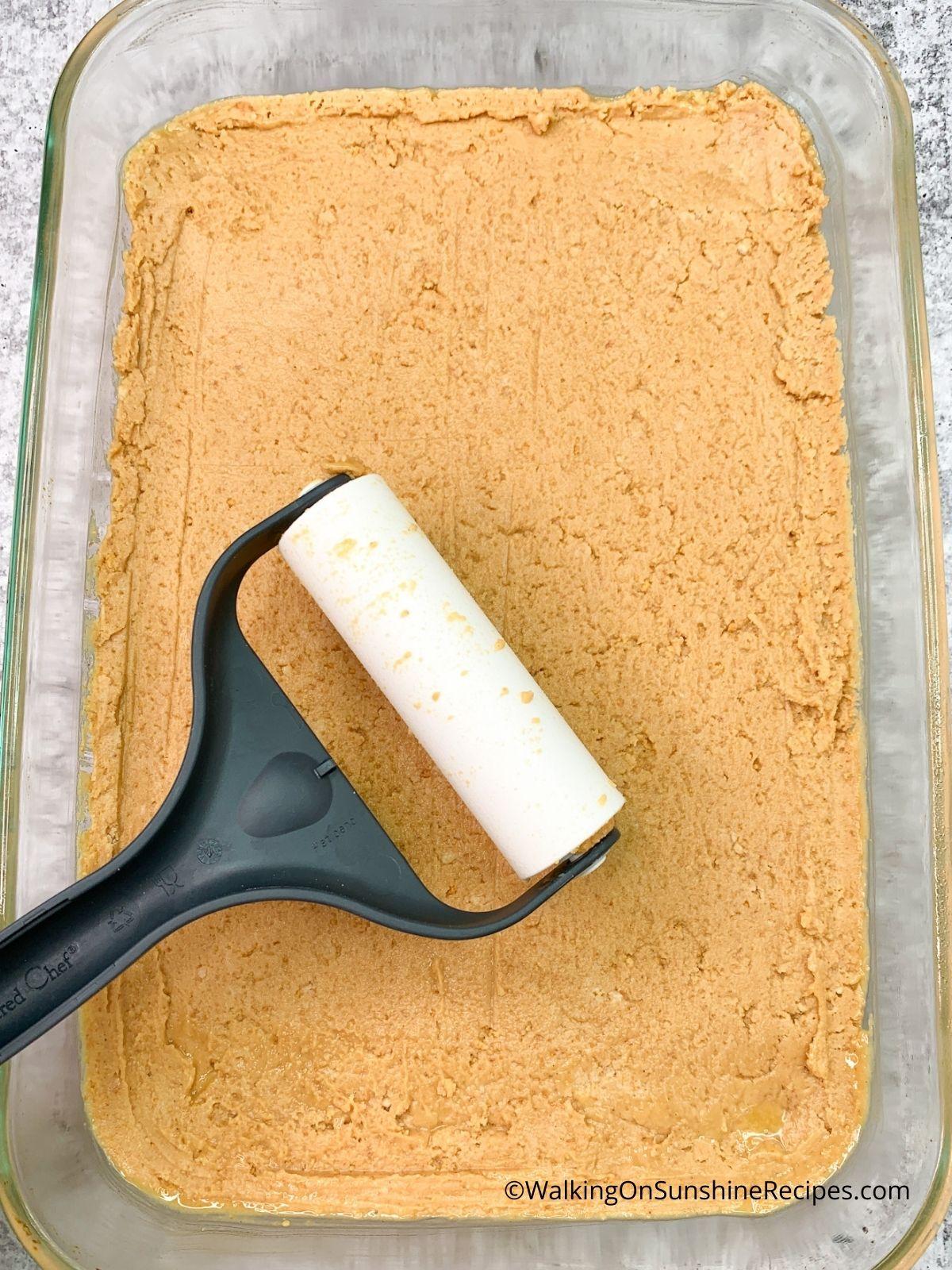 homemade reese's peanut butter bars.