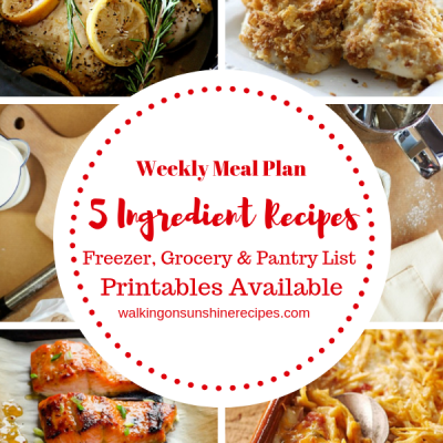 Weekly Meal Plan – 5 Ingredient Recipes for Dinner