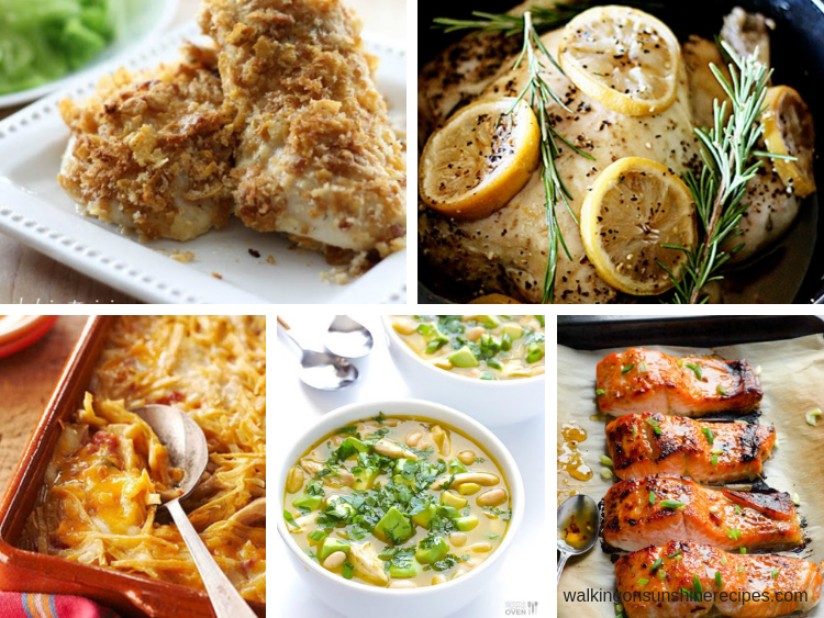 5 Ingredient Recipes are featured this week with our Weekly Meal Plan.