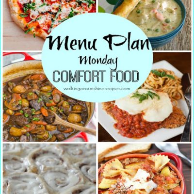 Comfort Food – Menu Plan Monday