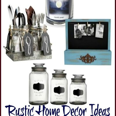 Rustic Home Decorating – Friday Favorites