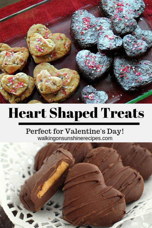 Heart Shaped Treats and recipes perfect for Valentine's Day.